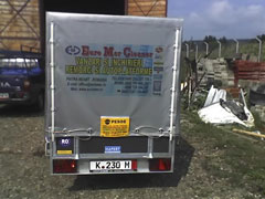 publicitate spate camion